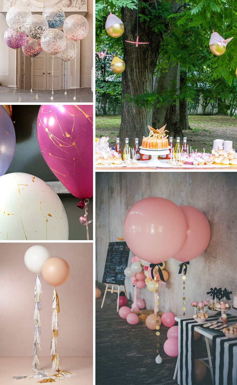 decorazioni di palloncini chic
