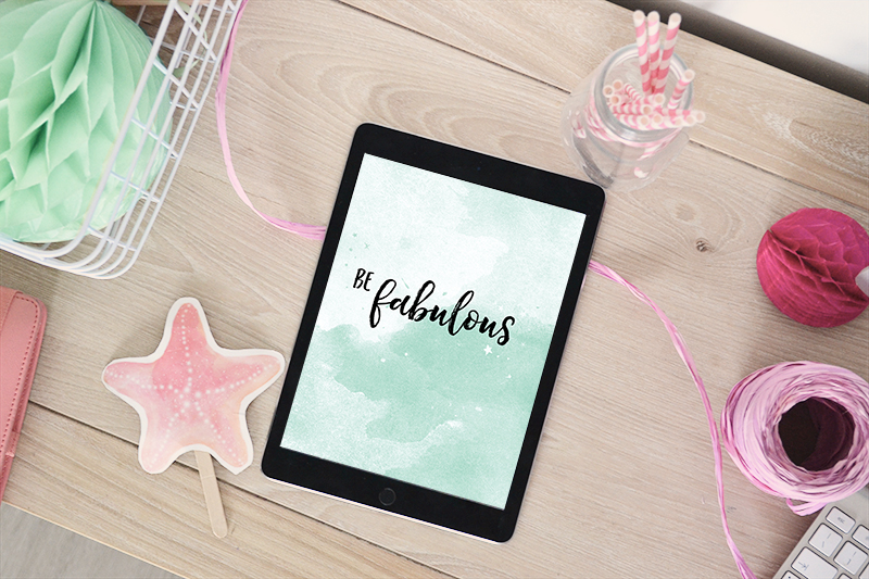 sfondo scaricabile per tablet 'be fabulous'