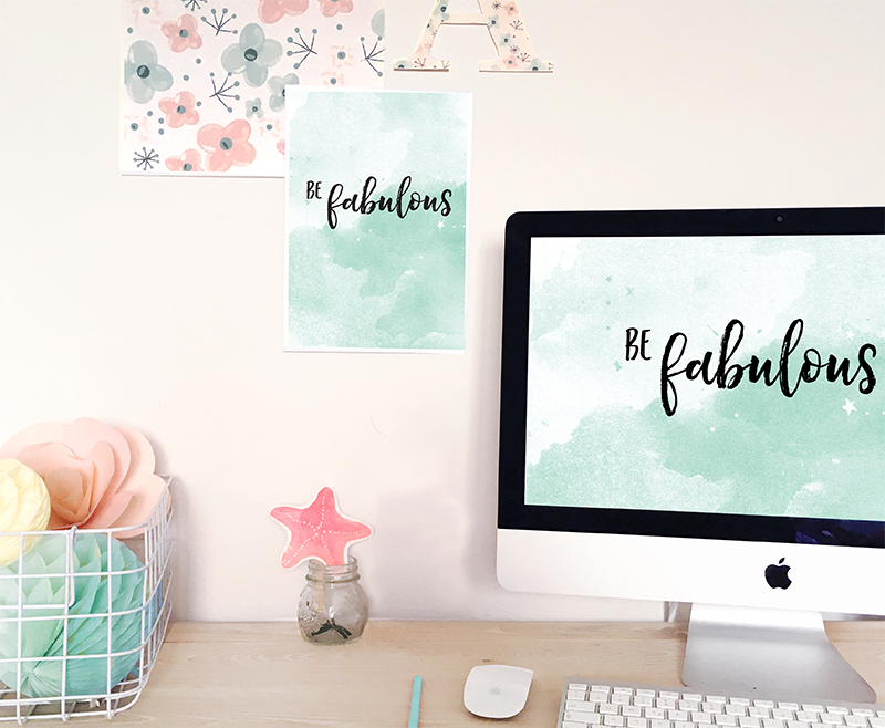 wallpaper 'be fabulous' per desktop e printable da scaricare e stampare