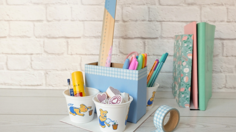 DIY desk organizer: idea di riciclo creativo